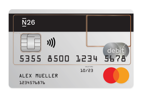N26 Mastercard Debit transparent